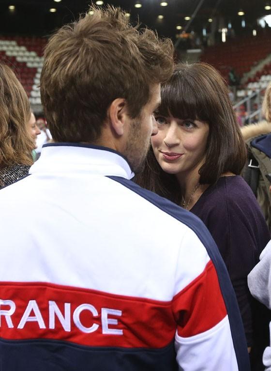 Nolwenn Leroy à Rouen le 2 février 2013 pour la Coupe Davis et soutenir Arnaud Clément