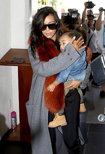 Kim Kardashian et North West à Los Angeles le 22 septembre 2014