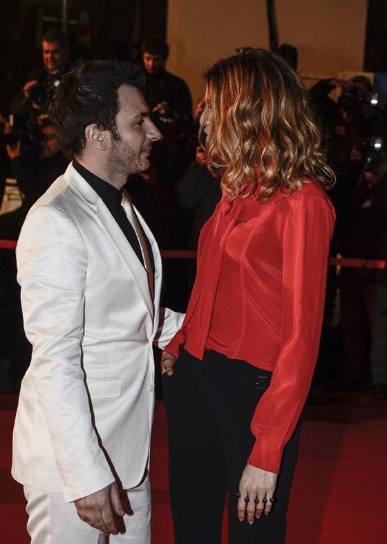 Michael Youn et Isabelle Funaro aux NRJ Music Awards 2013 le 26 janvier 2013 à Cannes