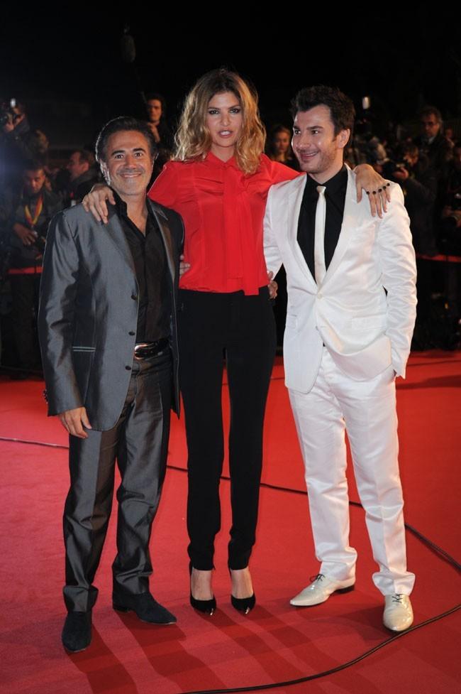 Michael Youn et Isabelle Funaro (et José Garcia) aux NRJ Music Awards 2013 le 26 janvier 2013 à Cannes