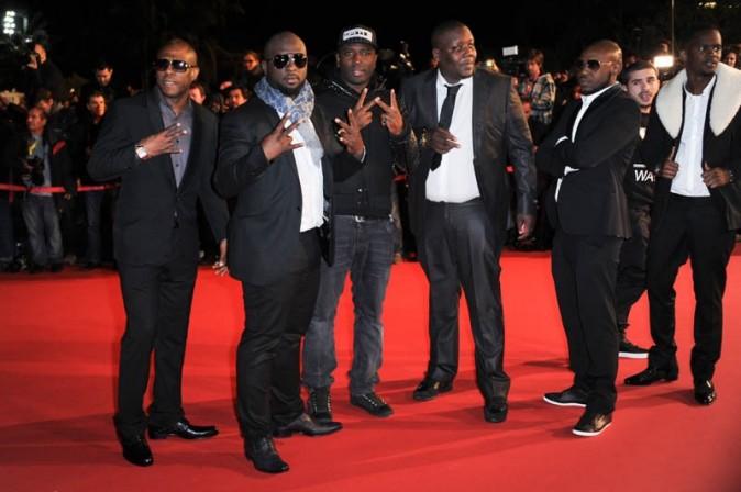 Sexion d'Assaut sur le tapis rouge des NRJ Music Awards, à Cannes, le 26 janvier 2013