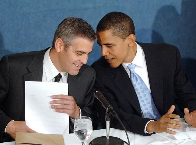Photos : George Clooney soutient Barack Obama