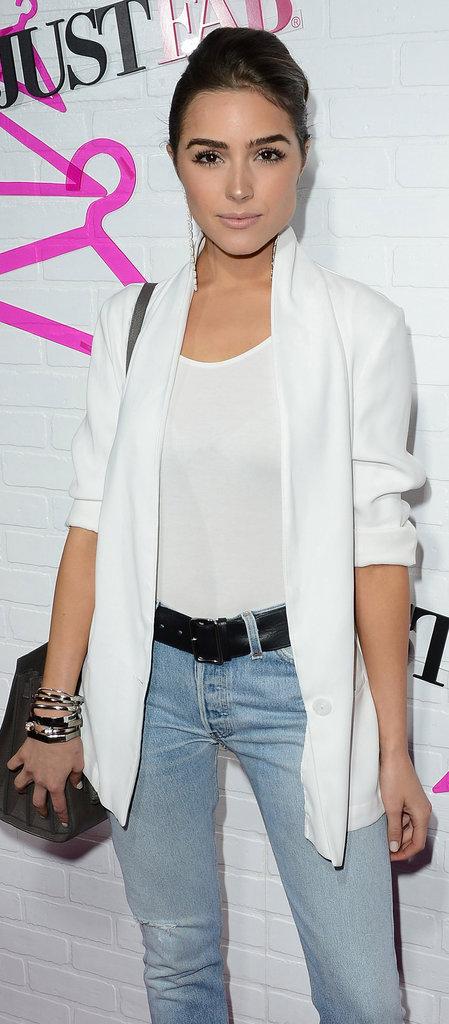 Olivia Culpo en mode casual sur le red carpet