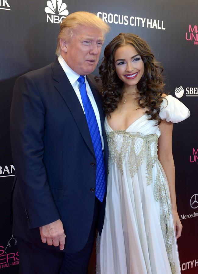 Donald Trump et Olivia Culpo au concours de Miss Univers 2013, à Moscou, le 9 novembre 2013