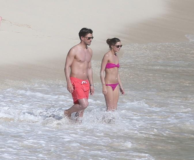Olivia Palermo et Johannes Huebl en vacances à St Barth, le 6 janvier 2013.