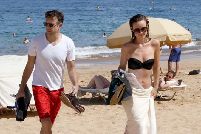 Olivia Wilde avec son fiancé Jason Sudeikis à Hawaï le 27 mai 2013