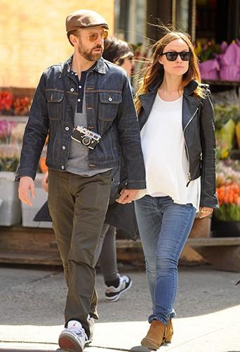 Jason Sudeikis et Olivia Wilde à New York le 19 avril 2014