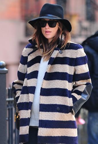 Olivia Wilde à New York le 10 mars 2014