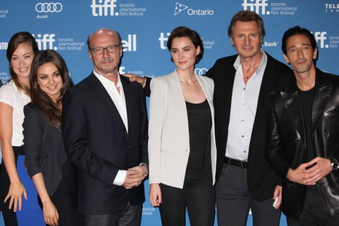 L'équipe du film The Third Person lors du Festival International du Film de Toronto, le 10 septembre 2013.