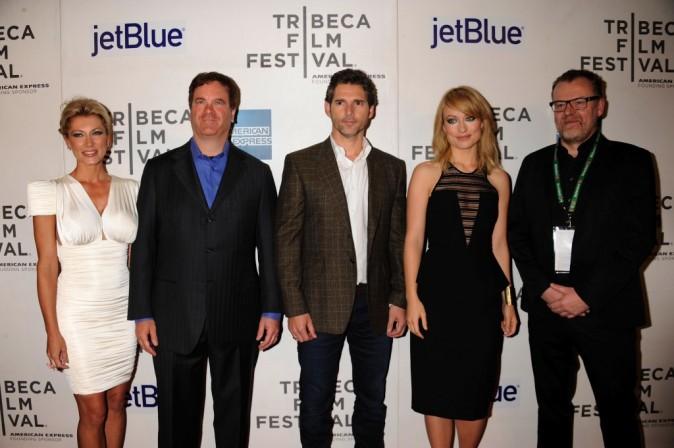 L'équipe du film Deadfall lors de la première new-yorkaise, le 22 avril 2012.