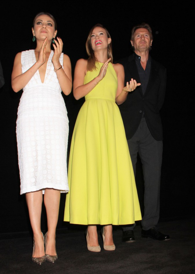 Mila Kunis, Olivia Wilde et Liam Neeson lors du Festival International du Film de Toronto, le 9 septembre 2013.