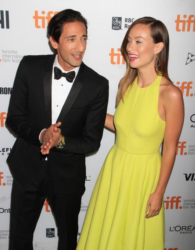 Olivia Wilde et Adrien Brody lors du Festival International du Film de Toronto, le 9 septembre 2013.