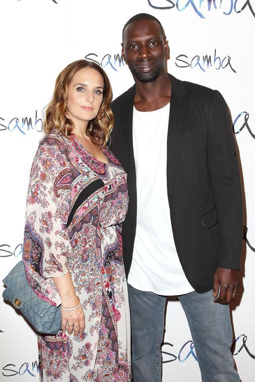Hélène et Omar Sy à l'avant-première de Samba à New-York le 16 juillet 2015