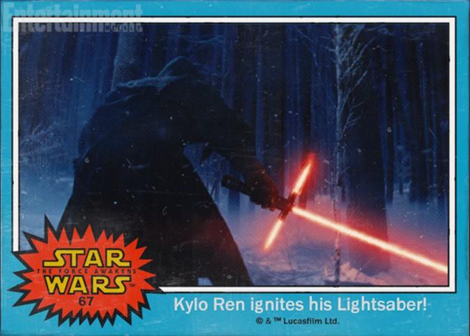 Le mystérieux personnage au sabre laser s'appelle Kylo Ren (acteur non identifié)