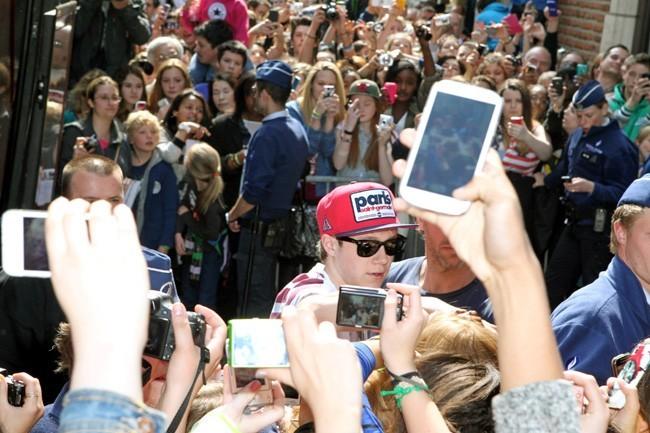 Le groupe One Direction à Bruxelles le 1er mai 2013
