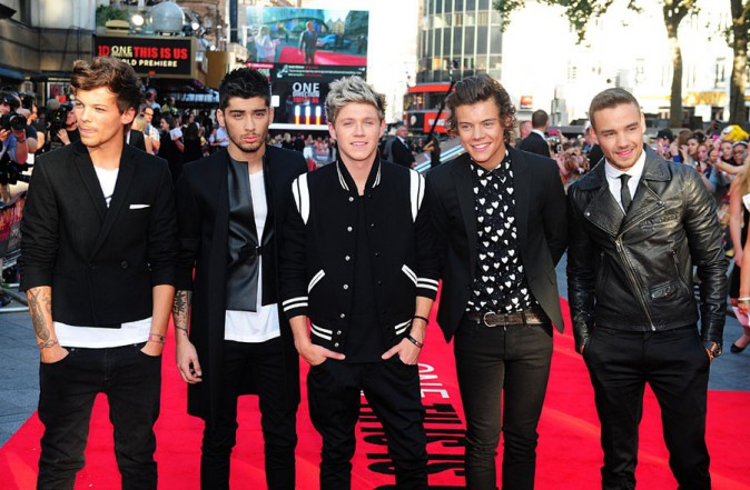 "One Direction à l'avant-première mondiale de ""1D : This is us"" à Londres le 2à août 2013"