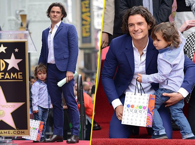 Orlando Bloom : accompagn� de son adorable Flynn pour recevoir sa prestigieuse �toile sur le Walk of Fame !