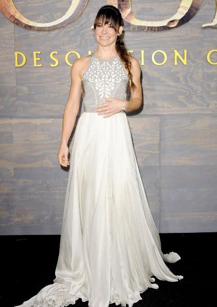 """Evangeline Lilly lors de la première de """"The Hobbit : La Désolation de Smaug"""" à Hollywood, le 2 décembre 2013."""