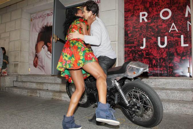Orlando Bloom et Condola Rashad pour la présentation de leur pièce Romeo et Juliette à New-York le 7 août 2013