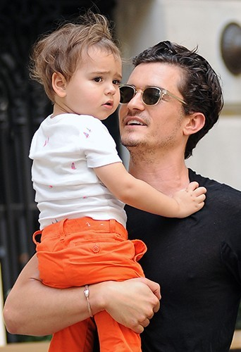 Orlando et Flynn Bloom à New-York le 7 juillet 2013