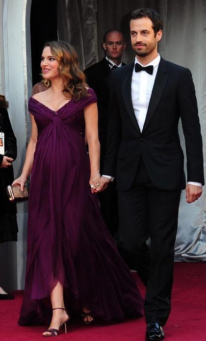 Natalie et Benjamin à leur arrivée aux Oscars !