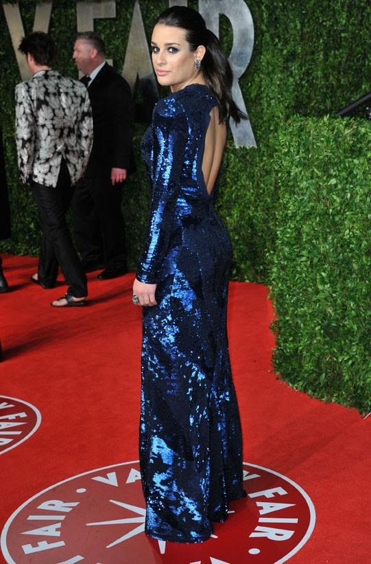 Le popotin bien caché de Lea Michele