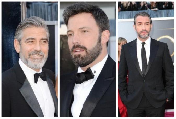 Les barbus George Clooney, Ben Affleck et Jean Dujardin