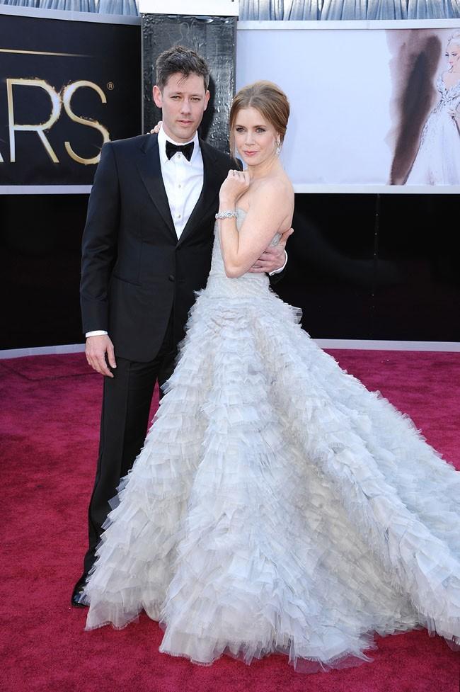 Darren Le Gallo et Amy Adams sur le tapis rouge des Oscars à Los Angeles le 24 février 2013
