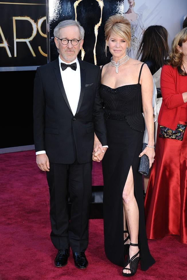 Steven Spielberg et Kate Capshaw sur le tapis rouge des Oscars à Los Angeles le 24 février 2013