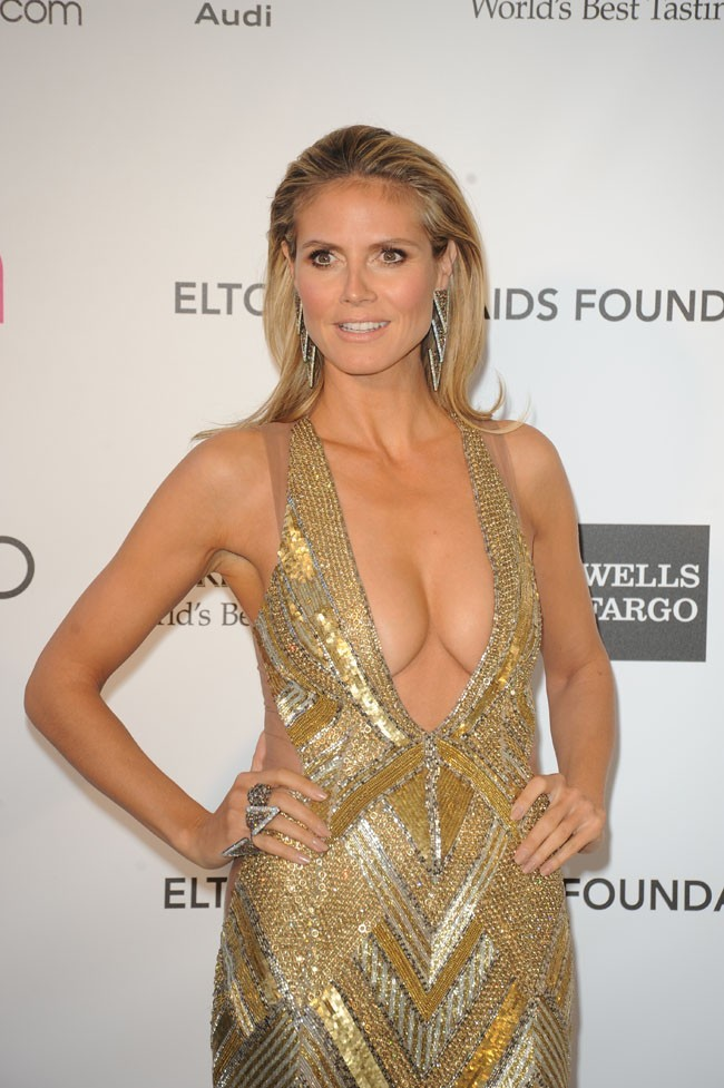 Heidi Klum à la soirée caritative d'Elton John au Pacific Design Center de West Hollywood le 24 février 2013
