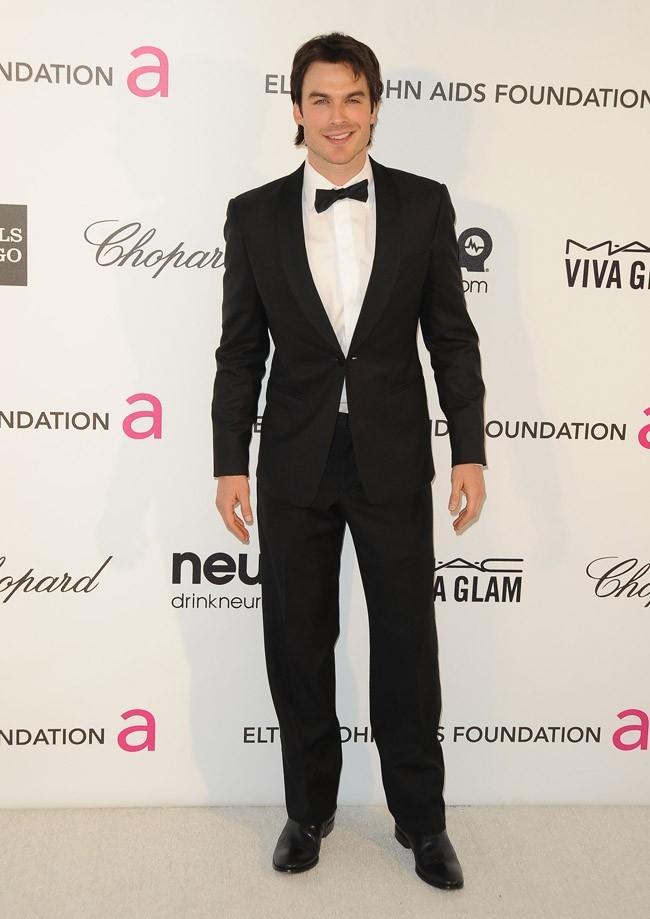 Ian Somerhalder à la soirée caritative d'Elton John au Pacific Design Center de West Hollywood le 24 février 2013
