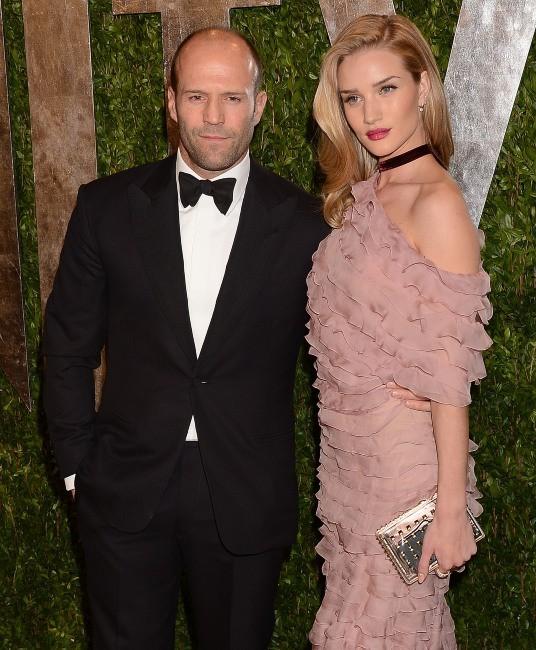 Rosie Huntington-Whiteley et son boyfriend Jason Statham le 24 février 2013 à Los Angeles