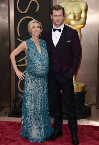 Elsa Pataky et Chris Hemsworth à Los Angeles le 2 mars 2014