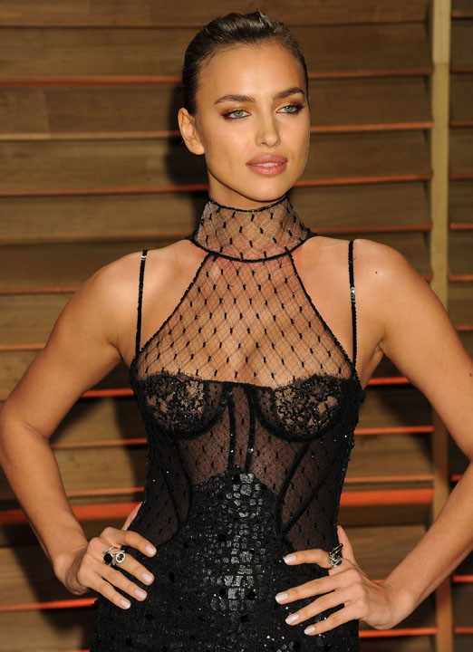 Irina Shayk à l'after-party Vanity Fair le 2 mars 2014