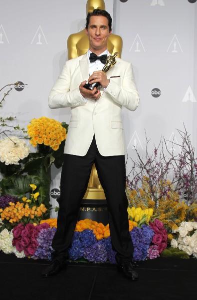 Matthew McConaughey lors de la 86e cérémonie des Oscars à Hollywood, le 2 mars 2014.