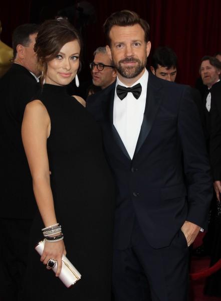 Olivia Wilde et Jason Sudeikis lors de la 86e cérémonie des Oscars à Hollywood, le 2 mars 2014.