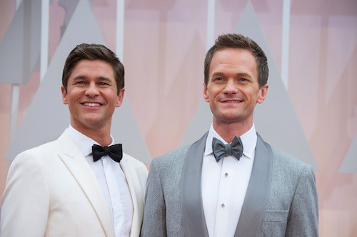 Oscars 2015 : Neil Patrick Harris et son époux, David Burtka