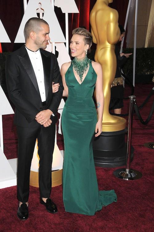 Oscars 2015 : Scarlett Johansson et Romain Dauriac