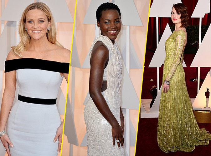 Oscars 2015 : Reese Witherspoon, Lupita Nyong'o, Emma Stone : l'art de briller sur tapis rouge, elles maitrisent !