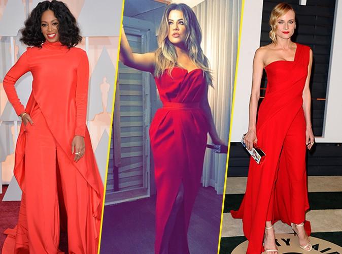 Photos : Oscars 2015 : Solange Knowles, Khloe Kardashian, Diane Kruger : du rouge sinon rien, Beyoncé donne son avis !