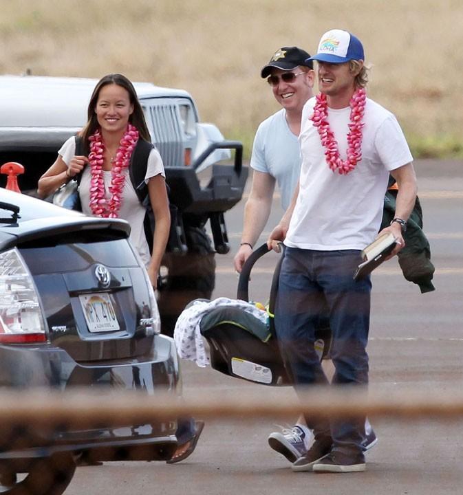 Owen Wilson en famille à Maui, le 16 avril 2011.