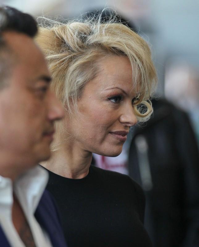 Pamela Anderson à New York, le 15 avril 2013