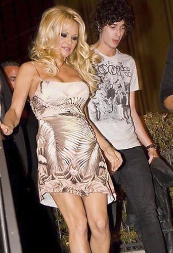 Pamela Anderson et Julian Perretta, Cologne, 1er septembre 2012.