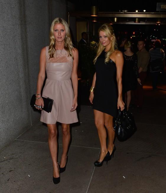 Nicky et Paris Hilton, Manhattan, 5 septembre 2012
