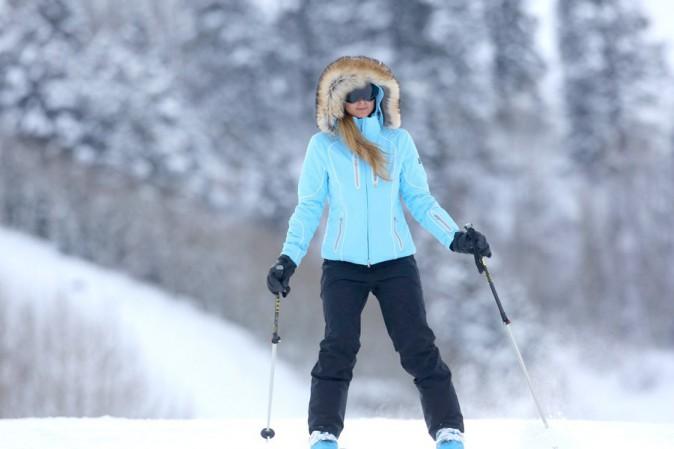 Paris Hilton à Aspen le 19 décembre 2014