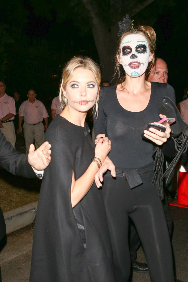 Ashley Benson et Kate Hudson à la soirée Halloween organisée le 24 octobre 2014 à Beverly Hills