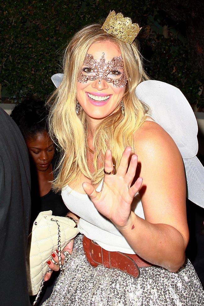 Hilary Duff à la soirée Halloween organisée le 24 octobre 2014 à Beverly Hills