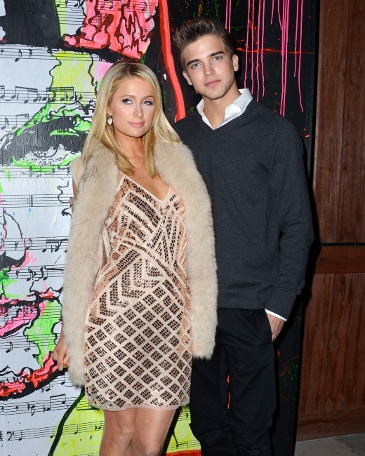 Paris Hilton et River Viiperi, Hollywood, 7 février 2013.