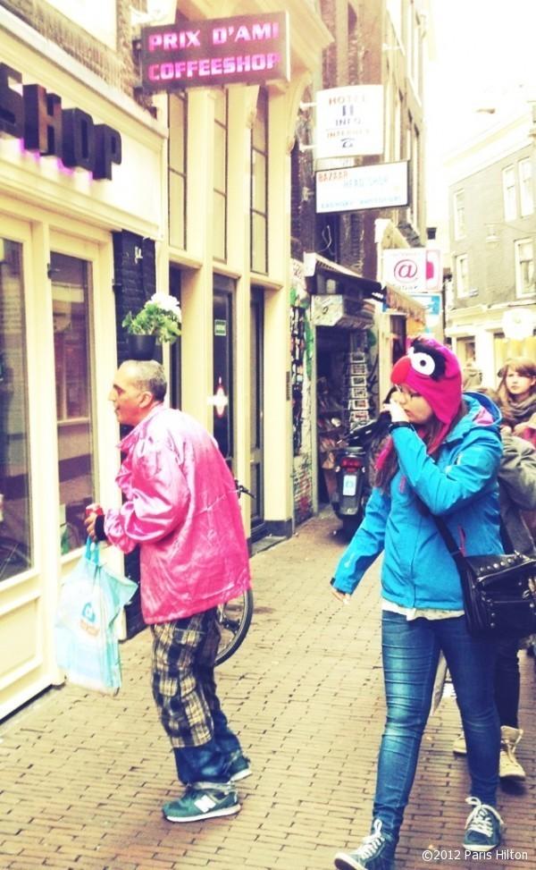 Curiosité de la vie à Amsterdam...