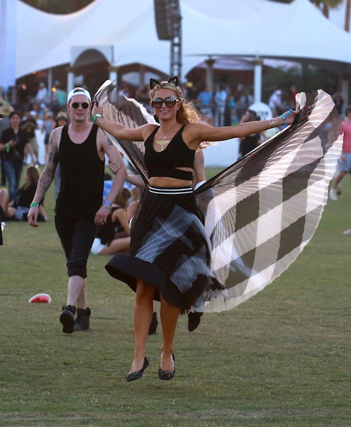 Photos : Paris Hilton et Jaden Smith, les perchés de Coachella !